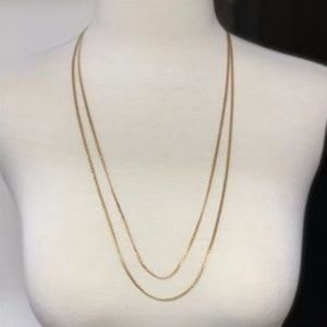 Double Gold Colored Necklace